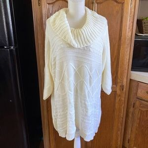 Woman Within Thick Cowl Neck Sweater